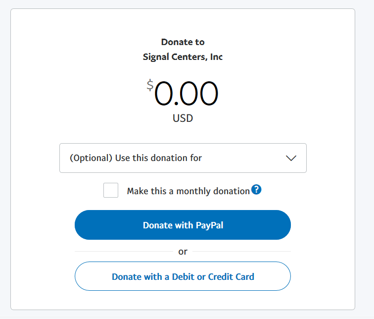 PayPal Form Screenshot
